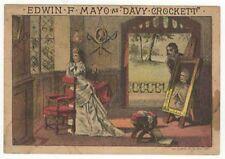 DAVY CROCKETT: EDWIN MAYO RARE 1896 COLOR DAVY CROCKETT TRADE CARD*