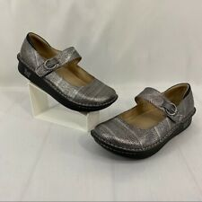 """Alegria Paloma Pro """"Pewter Gray Chain Mail"""" Mary Jane Shoes Size 40"""