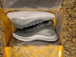 Under Armour Steph Curry 8 Shine Flow Men's 10 Grey White shoes (3024031-100)