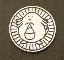 Pokemon Card Game Plastic Coin Chansey Metallic Silver XY Break 20th Starter