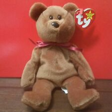 "Ty Beanie Babies TEDDY the Bear, 1995-1993 ""FAREHAM"" (PVC China) + CANADIAN Tags"