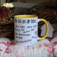 Tasse / Was ich an dir liebe (GELB) / Geschenk Valentinstag Weihnachten Liebe
