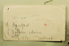 Dr Who 1899 Australia Tasmania Stampless To New Zealand With Horse Form f31095