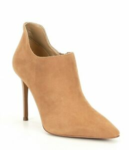 MICHAEL Michael Kors Corrine Dark Khaki Suede Ankle Bootie Size 5.5