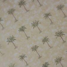 Waverly Sheer Tahiti Panel Gold w Khaki Green Palm Trees 84 X 60 Rod Pocket