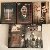 Lot 5 Devil Horror DVD Movies The Devil Inside, Devils Whisper, Devils Hand, Due