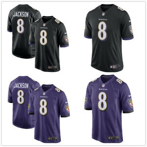 NFL Men's Lamar Jackson #8 Baltimore Ravens American Football Stitched Jersey