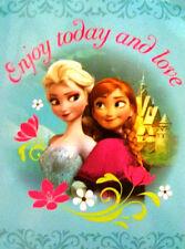 Disney Frozen Anna Elsa Plush Throw Blanket Twin Size 60x80 - Sister Love