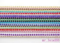 "Mixed Colors Round Bead Chain DIY Jewelry Making Findings Fit Necklace 27"" 10pcs"
