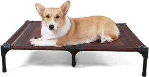 ANWA Elevated Dog Bed Large Size, Raised Dog Bed Outdoor Use, Portable Dog Co...