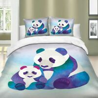 Animal Duvet Cover Set for Comforter Queen King Size Panda Bedding Set US