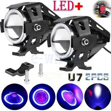 2X U7 Motocicleta Faro Headlight 125W 3000LM LED Luz Foco Spot Light +Cambiar SG