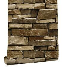 Vinyl Stone Peel and Stick Wallpaper 3D Textured for Kitchen Bathroom 24.3sq.ft