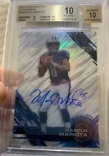 2015 High Tek Autograph Marcus Mariota BGS 10 + 10 With 3 Sub 10 Scores Awesome