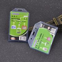 1 Pc Vertical Horizontal Transparent ID Badge Holder Card Business Card