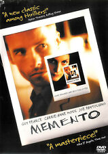 Memento ~ Guy Pearce Carrie-Anne Moss ~ DVD WS ~ FREE Shipping USA