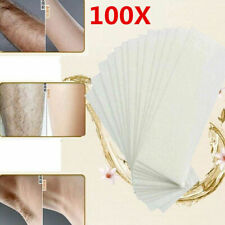 100 PCS Hair Removal Depilatory Nonwoven Epilator Wax Strip Paper Roll Waxing