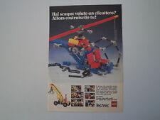 advertising Pubblicità 1985 LEGO TECHNIC