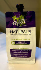 ^^^ Splat Naturals Purple - Semi Permanent Hair Colour - Up To 30 Wash - NEW^^^