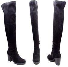 Scarpe da donna stivali sopra il ginocchio neri senza marca