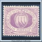1877 San Marino Stemma cent. 40 lilla n. 7 Nuovo sg