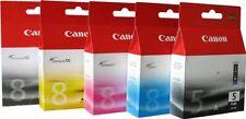 5 CARTUCCE ORIGINALI CANON PIXMA ip4500 NUOVO 5-PGBK cli-8 M/C/Y/BK OVP