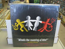 Soundtrack What's The meaning of This CAST Richard Wilson Musica LP In Shrink EX