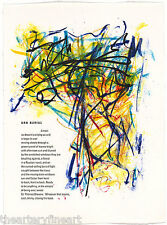 JOAN MITCHELL 'Urn Burial' from 'Poems' 1992 Ltd Edition Lithograph Print Framed