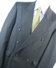 Burton Mens Grey Wool Blend Double Breasted Suit Jacket Size 44/Ja