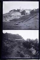MAROC Tanger c1900, NEGATIF 2 Photos sur la même Plaque Verre VR10L7n4