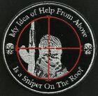 SNIPER ISIS HEAD SHOT HUNTING BIKER TACTICAL COMBAT BADGE MORALE MILITARY PATCH