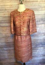 Vintage Victor Costa Beaded - Blazer Pencil Skirt - 4 Wedding Church Suit