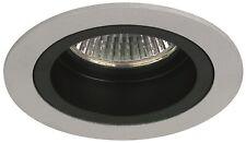 2 SPOTS à Encastrer Fixe pour Ampoule 12V MR16 GU5.3 Max 50W finition Alu & Noir