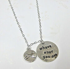 Where Ever You Are Necklace ,Best Friend BFFJewelry, Pinky Promise Necklace
