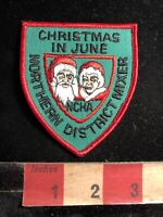 NCHA CHRISTMAS IN JUNE MRS. CLAUSE & SANTA CLAUSE Patch No. District Mixer 98M1