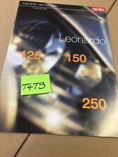 Aprilia Léonardo 125 150 250 scooter prospectus catalogue publicité brochure