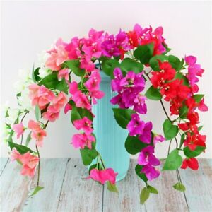 1pc Bougainvillea Branch with Leaf Artificial Flower Home Party Decoration