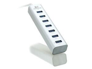 Kingwin Aluminum 6Port 5 Gbps USB3.0 Hub w/ IQ Smart Charging Port (KWZ-700)