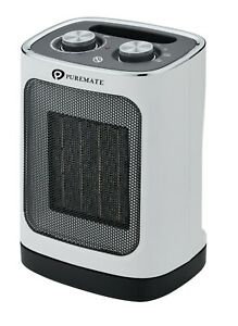 PureMate 1800W Ceramic Fan Heater with Oscillation & 2 Heat Low/High Settings