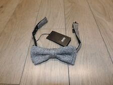 HUGO BOSS Made in Italy Black Label Classic Bow Tie Gray Lightgray Check