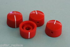 Knobs Rojo 21x12 mm. Fit 6.35 Potes Effect Pedal Poti Knöpfe Boutons Red