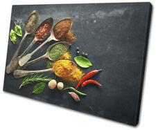Spices Herbs Cooking Food Kitchen SINGLE DOEK WALL ART foto afdrukken