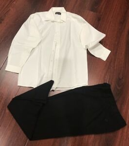 Formal White Top Size 16 And Black Pant Size 14