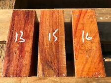 Brazilian tulipwood (rosewood) turning blanks - 100-305mm length 36-66mm SQ