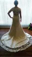 Illusion Back Sheath Sweetheart Beaded size 8 Bridal Gown