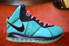 CLEAN Nike Lebron 8 VIII Pre Heat South Beach Size 9.5 417098 401 Teal Pink