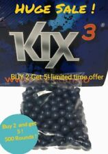 Kix Paintballs Bag of 100 Rounds - Pearl Blue with Yellow Fill Buy 2 Get 5!