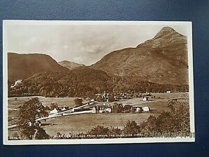 GLEN COE VILLAGE FROM ABOVE GLEN COE HOTEL PHOTO CARD.NO. 51775 POSTED 1943