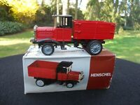 ZISS-MODELL EURO-MODELL GERMANY CAMION HENSCHEL 1926 BORDEAUX & NOIR