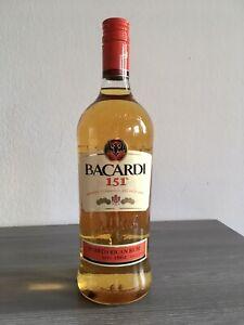 Bacardi 151 Rum 75,5 % alc. 1 Liter sehr selten  discontinued Rarität